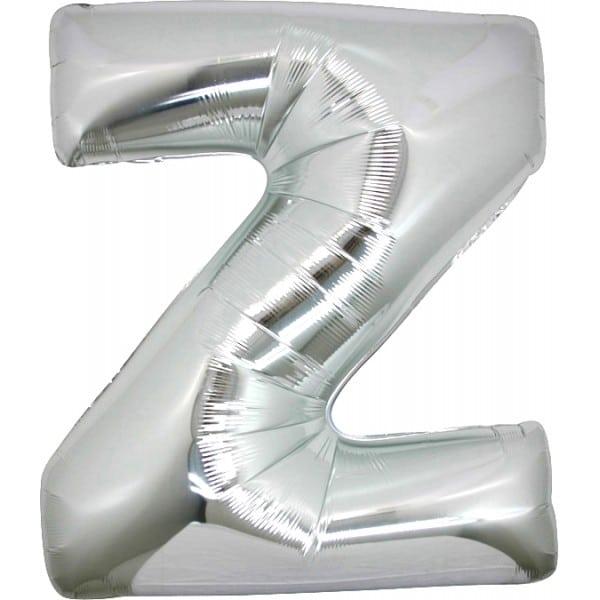 palloncini forma lettera Z argento lettere giganti