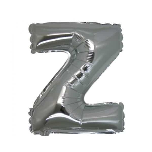 palloncini forma lettera Z argento lettere medie