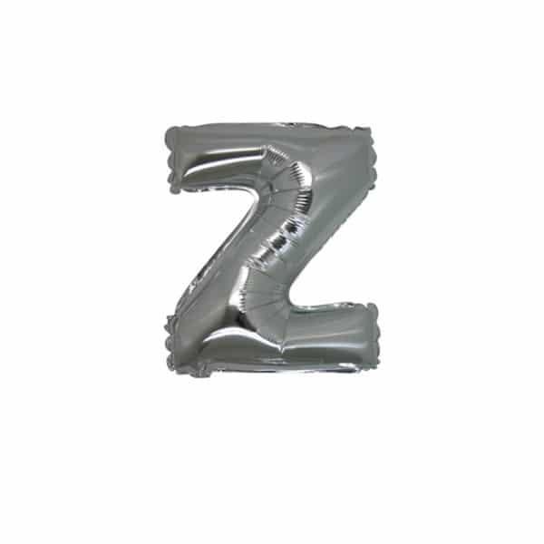 palloncini forma lettera Z argento lettere piccole