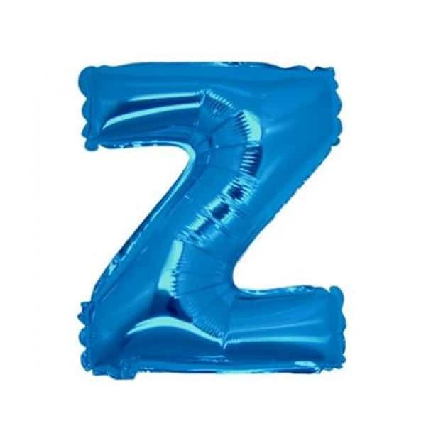 palloncini forma lettera Z blu lettere medie