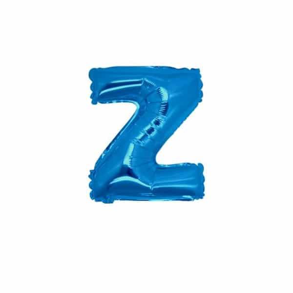 palloncini forma lettera Z blu lettere piccole