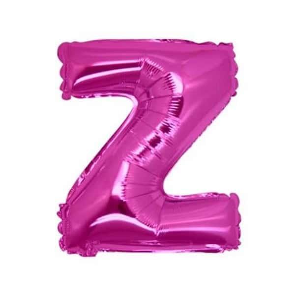 palloncini forma lettera Z fucsia lettere medie