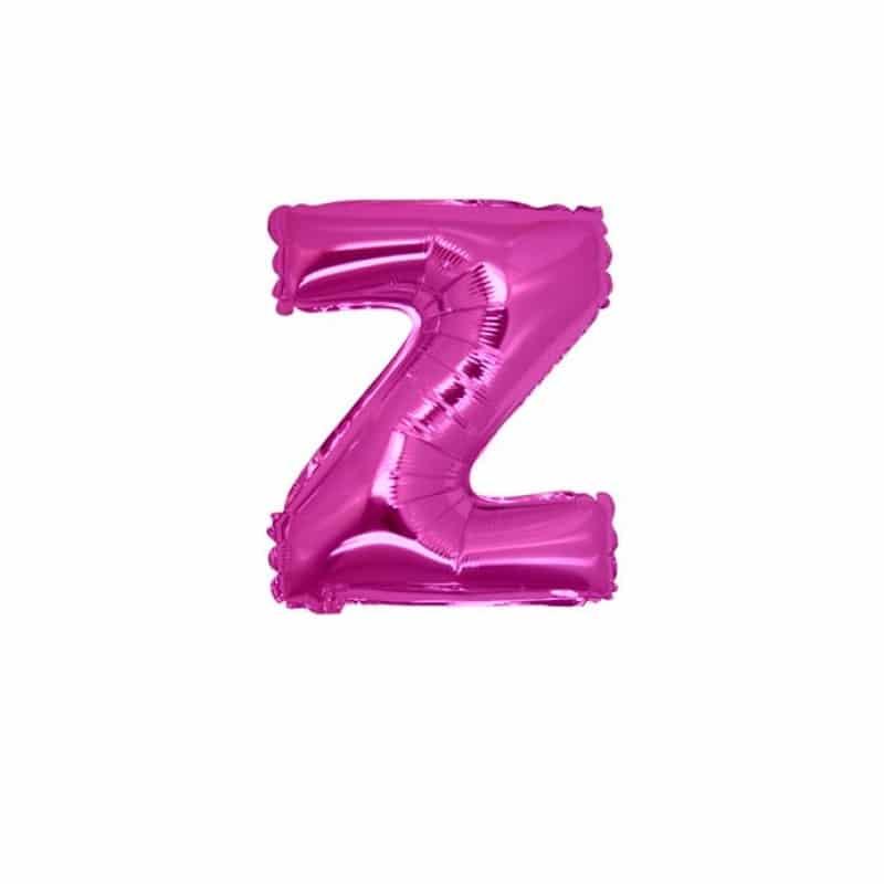 palloncini forma lettera Z fucsia lettere piccole