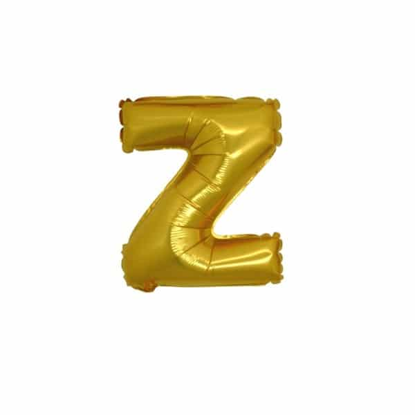 palloncini forma lettera Z oro lettere piccole