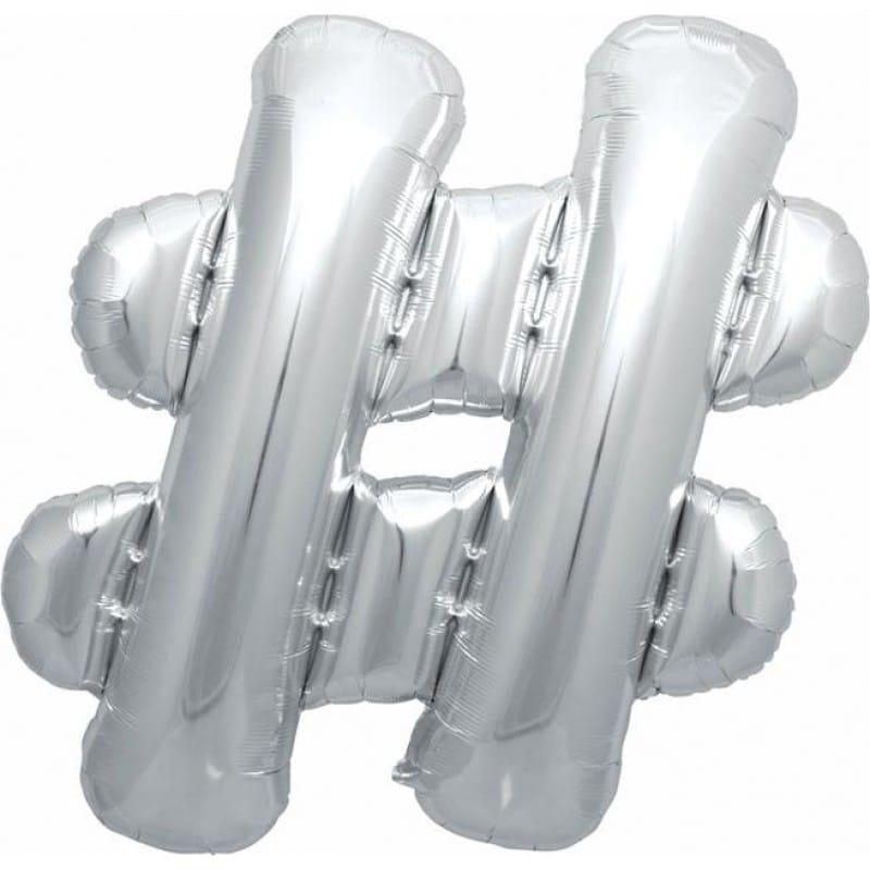 palloncini forma lettera argento lettere giganti 1