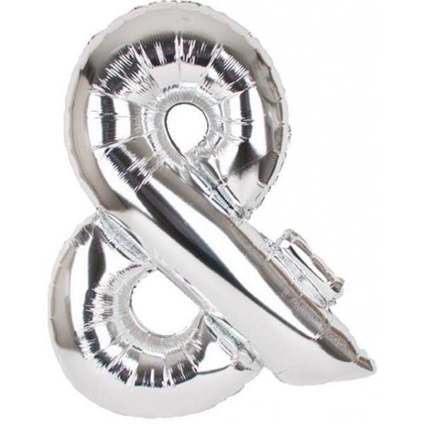 palloncini forma lettera argento lettere giganti