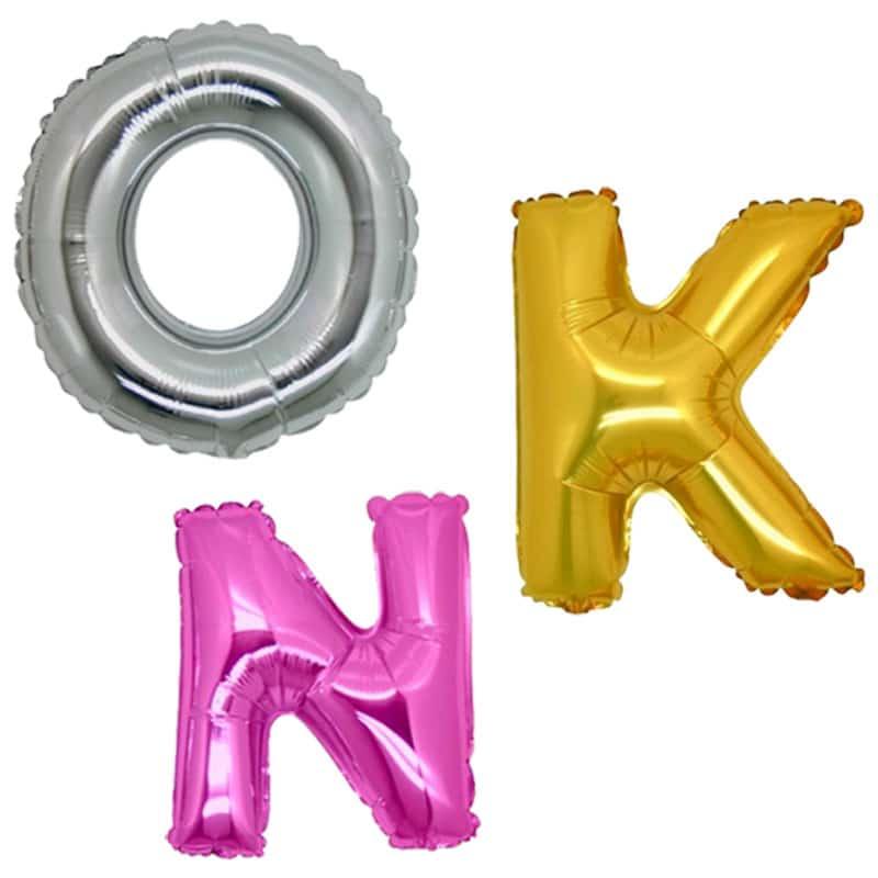 palloncini forma lettere mylar grandi giganti