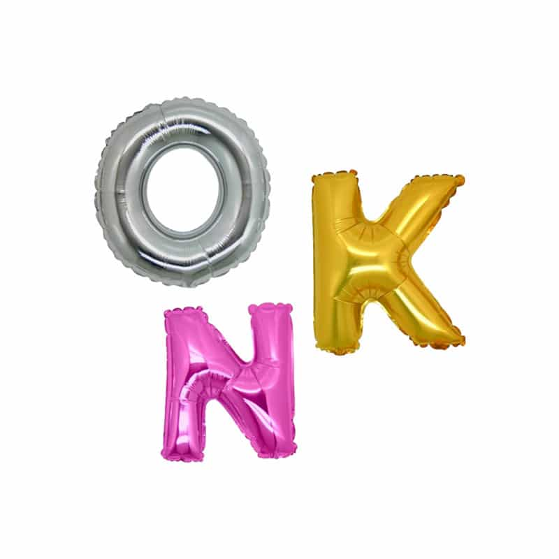 palloncini forma lettere mylar piccole