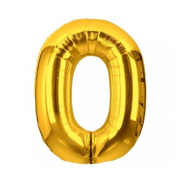 palloncino numero mylar 0 medio oro