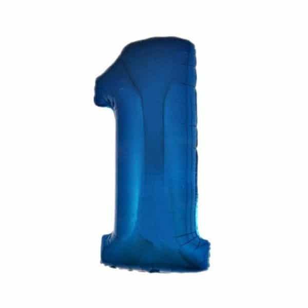 palloncino numero mylar 1 grande blu