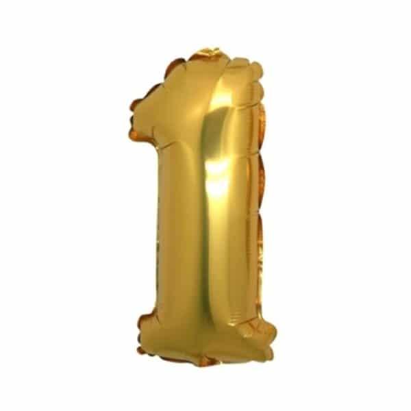 palloncino numero mylar 1 medio oro
