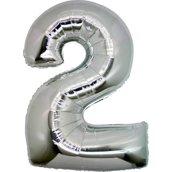 palloncino numero mylar 2 grande