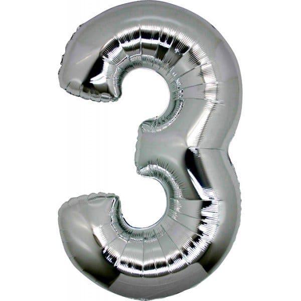 palloncino numero mylar 3 grande