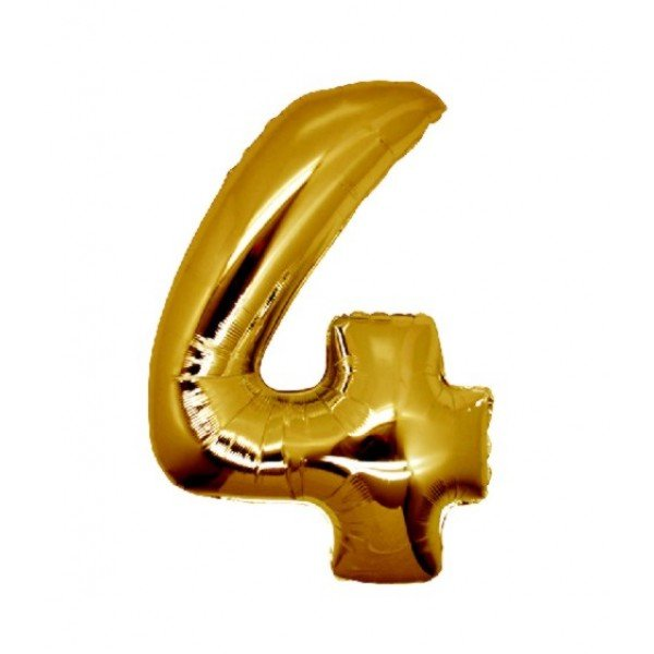 palloncino numero mylar 4 medio oro