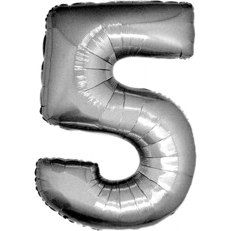 palloncino numero mylar 5 grande