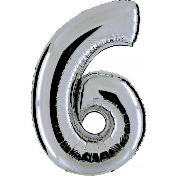 palloncino numero mylar 6 grande