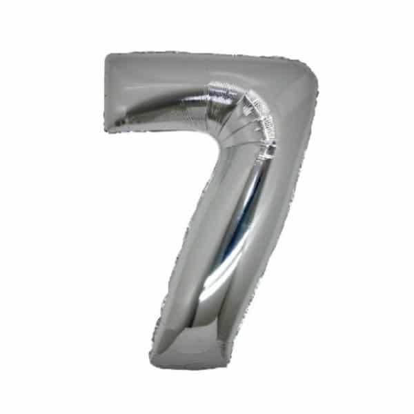 palloncino numero mylar 7 medio argento