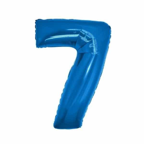 palloncino numero mylar 7 medio blu