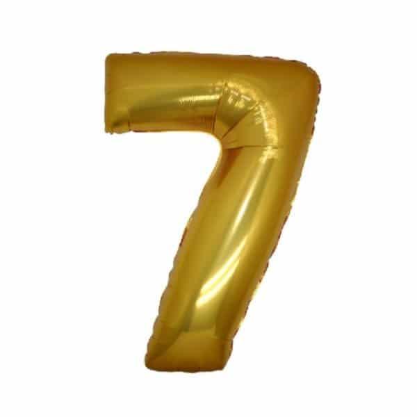 palloncino numero mylar 7 medio oro