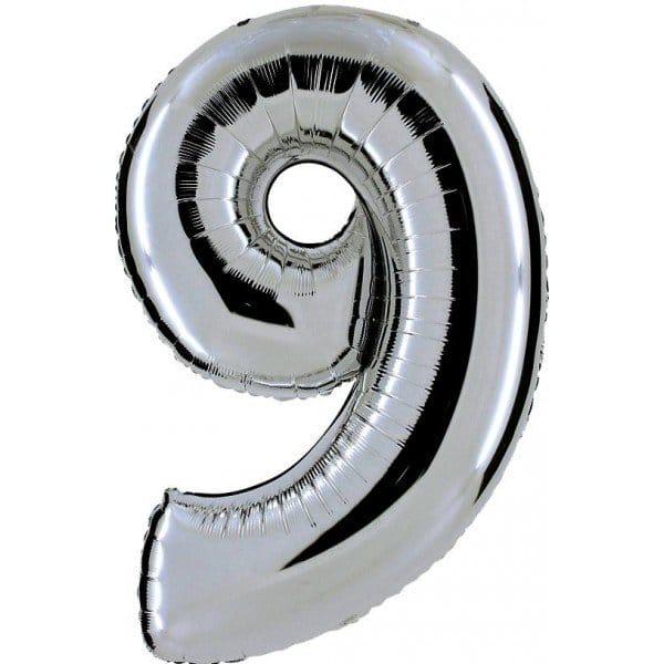palloncino numero mylar 9 grande