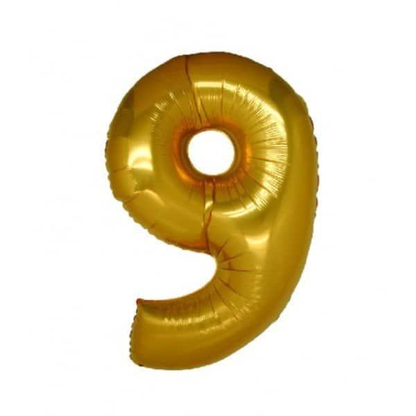 palloncino numero mylar 9 medio oro