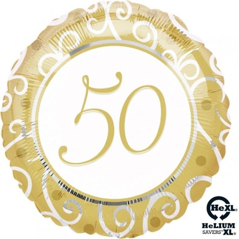 Palloncini 50 anniversario nozze argento elegant