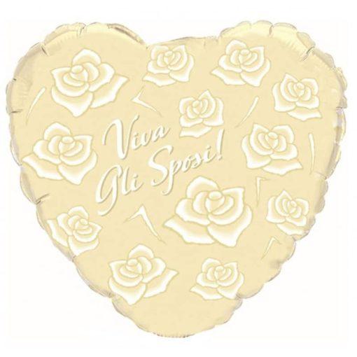 Palloncini Viva gli sposi cuore