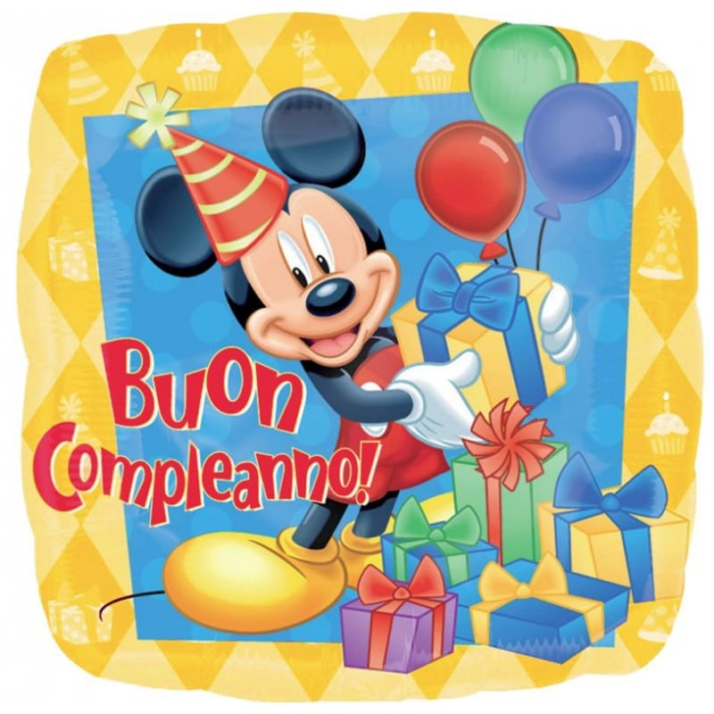 Palloncini micky mouse buon compleanno