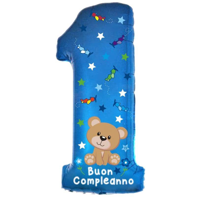 palloncini 1 compleanno bimbo orsetto