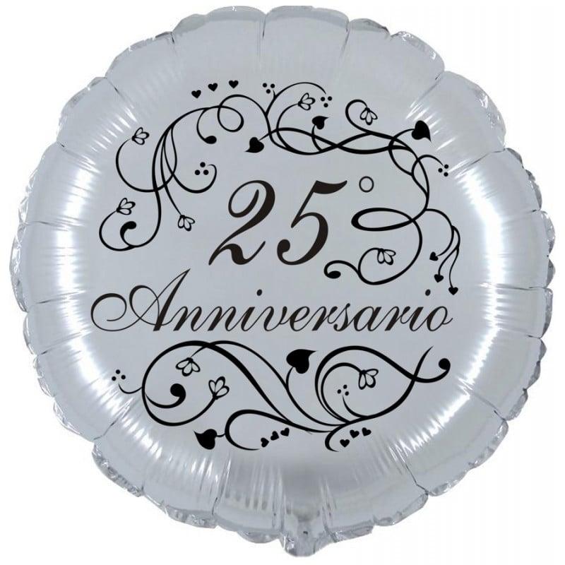 palloncini 25 anniversario di matrimonio nozze argento
