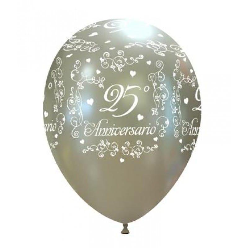 palloncini 25 anniversario di matrimonio