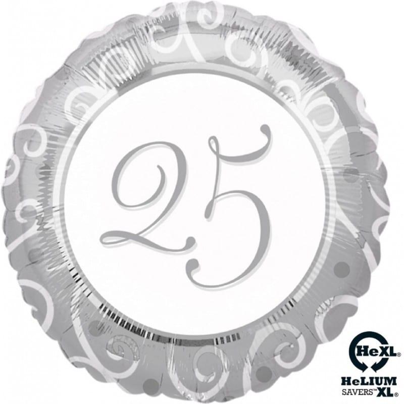 palloncini 25 anniversario nozze argento elegant