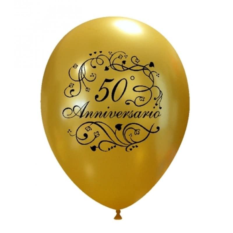 palloncini 50 anniversario di matrimonio argento