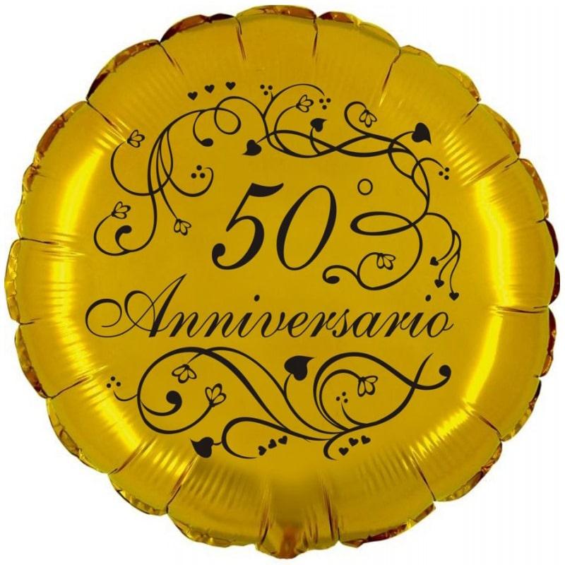 palloncini 50 anniversario di matrimonio nozze oro