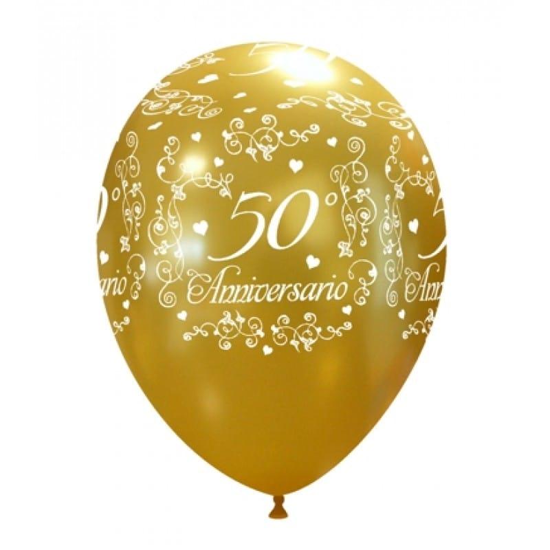 palloncini 50 anniversario di matrimonio