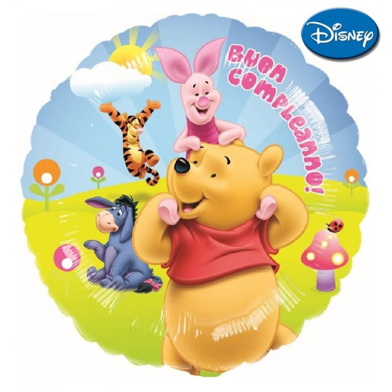 palloncini Winnie the pooh buon compleann