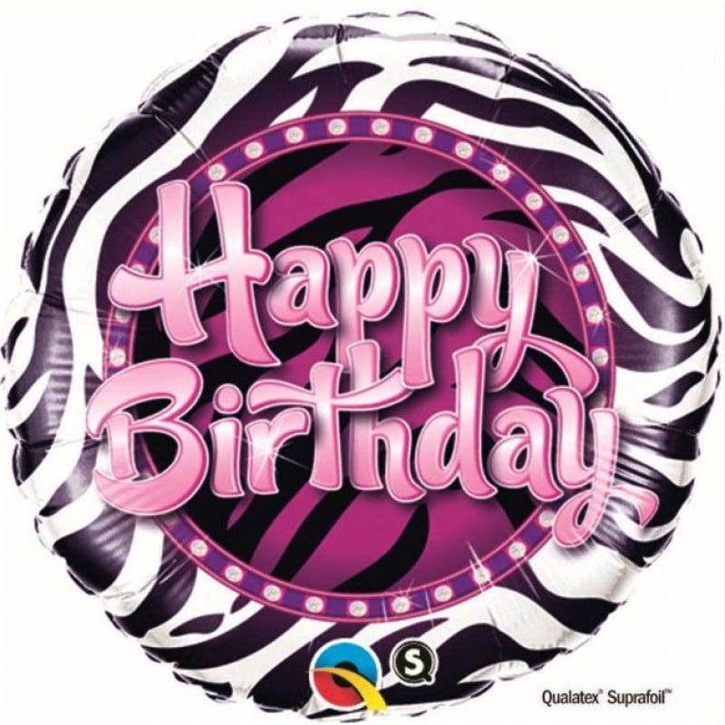 palloncini buon compleanno zebra fucsia