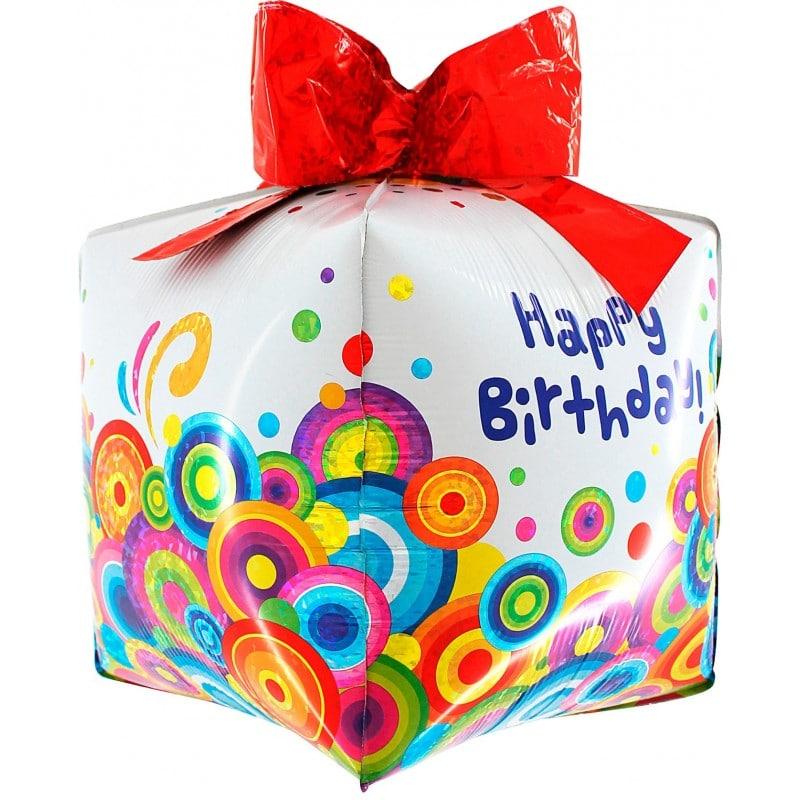 palloncini happy birthday pacco regalo