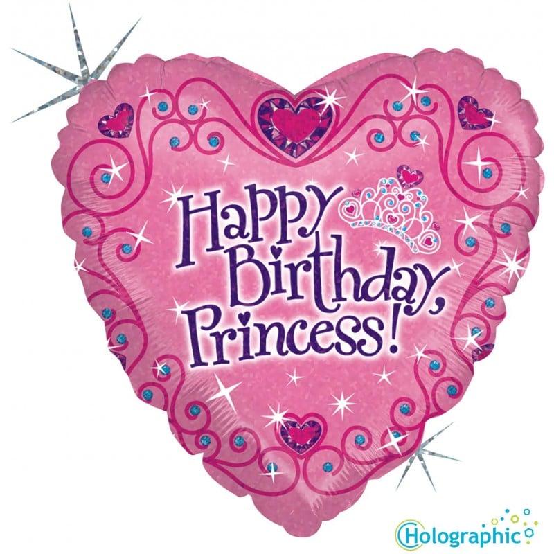 palloncini happy birthday principessa