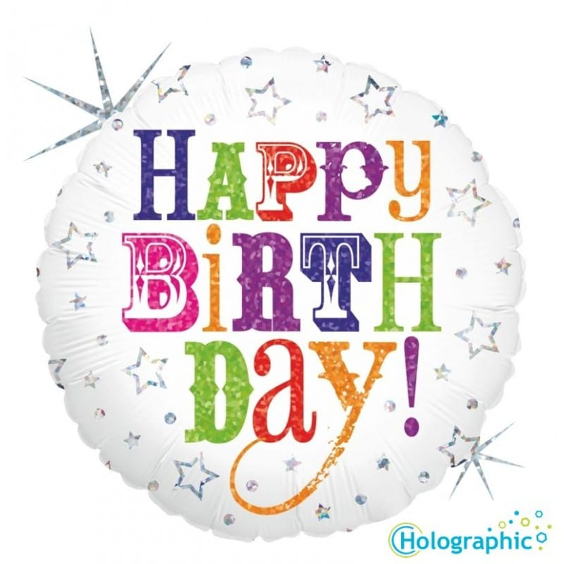 palloncini happy birthday stars