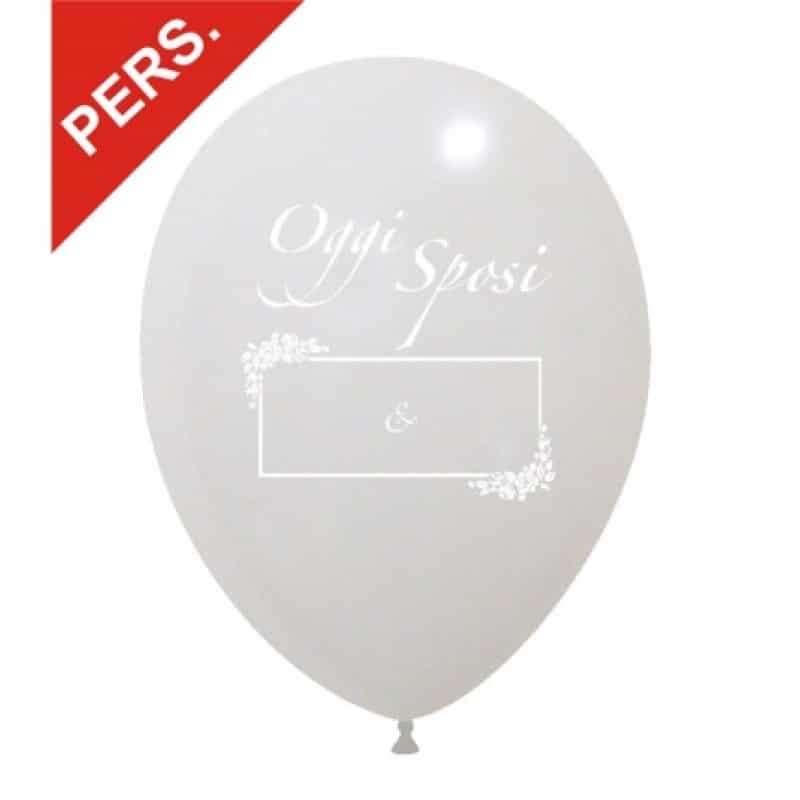 palloncini oggi sposi con area per scrivere