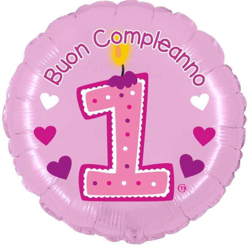 palloncini primo compleanno bimba