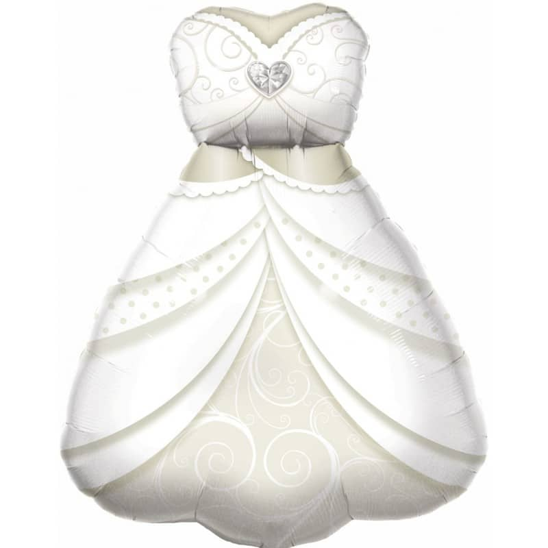 palloncini vestito sposa