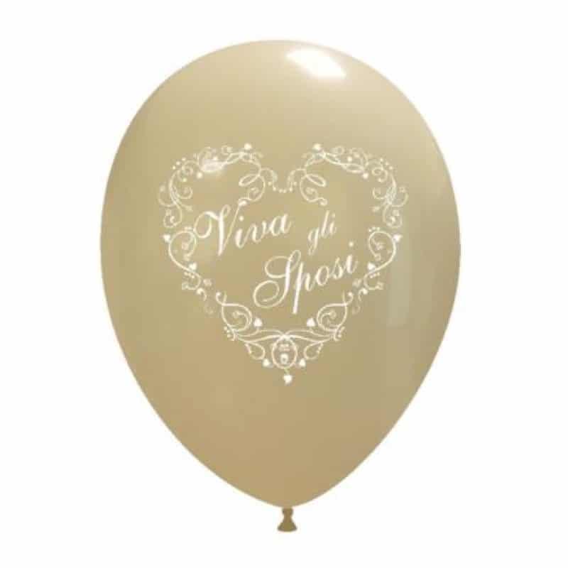 palloncini viva gli sposi classici stampa cuore