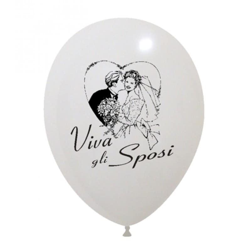 palloncini viva gli sposi sposo e sposa cuore