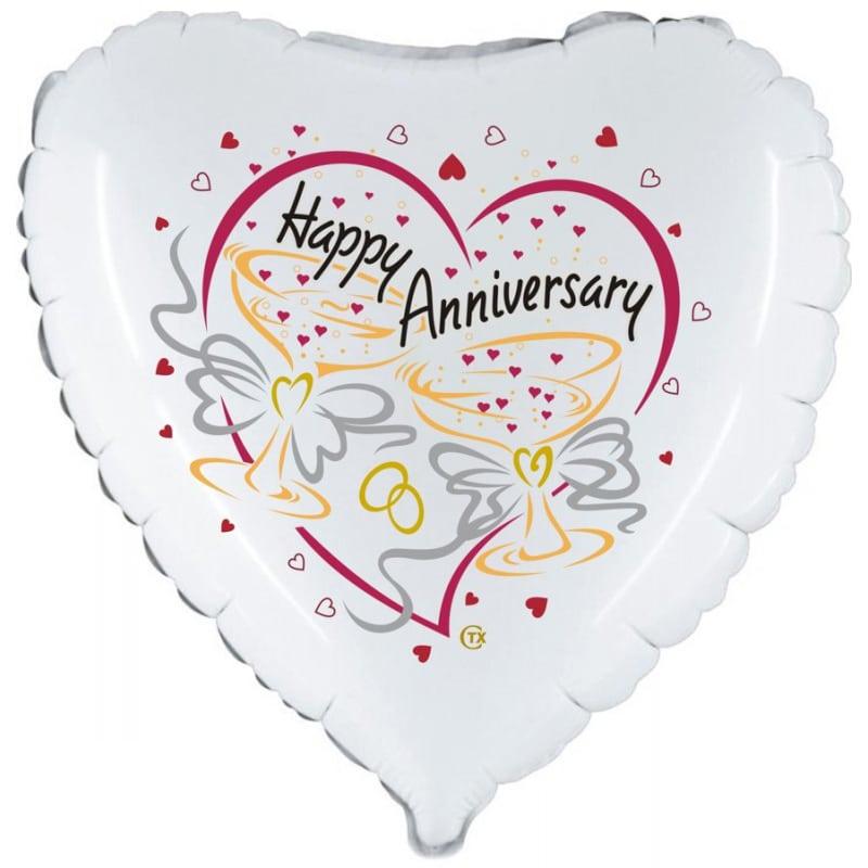 palloncino cuore felice anniversario matrimonio