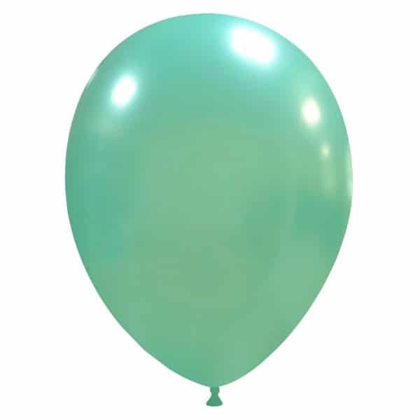 palloncini colore metallizzati aqua