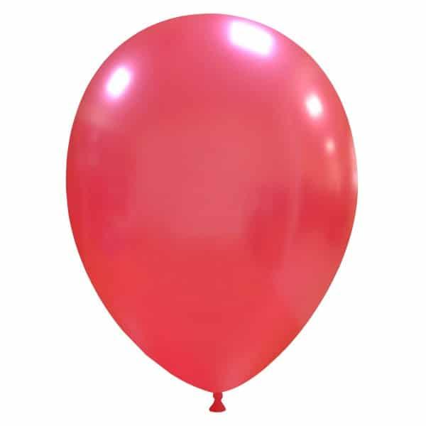 palloncini colore metallizzati rosso chiaro