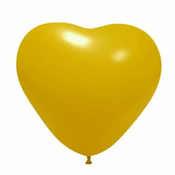 palloncini cuore giallo scuro