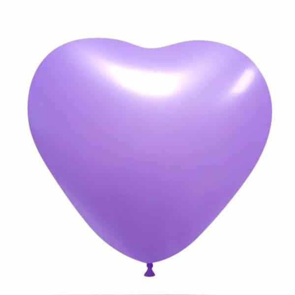 palloncini cuore lavanda